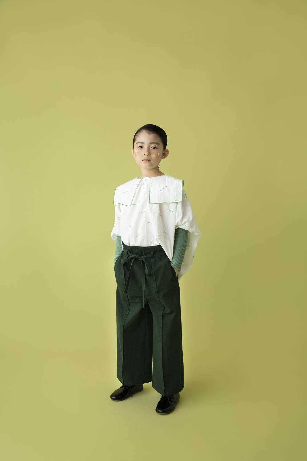 antique burberry pants /forest green2
